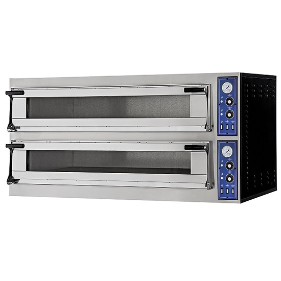 Electric pizza ovens suitable for trays 60x40cm. 2 rooms 180 mm high