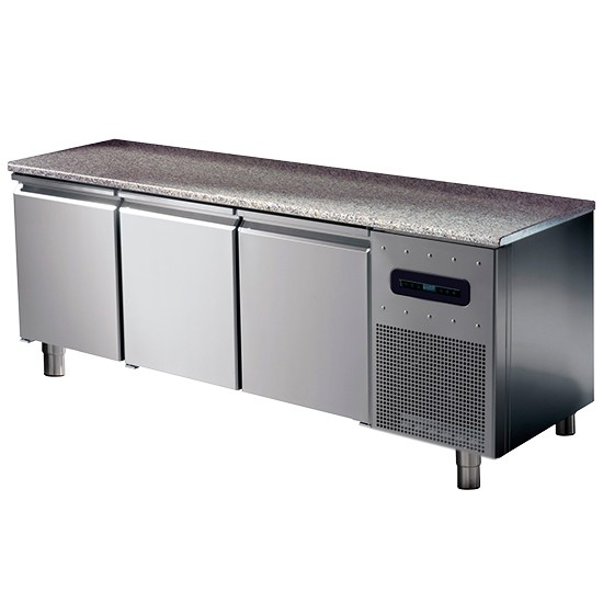 Pastry freezer with granite working top, low temperature -10c -20c