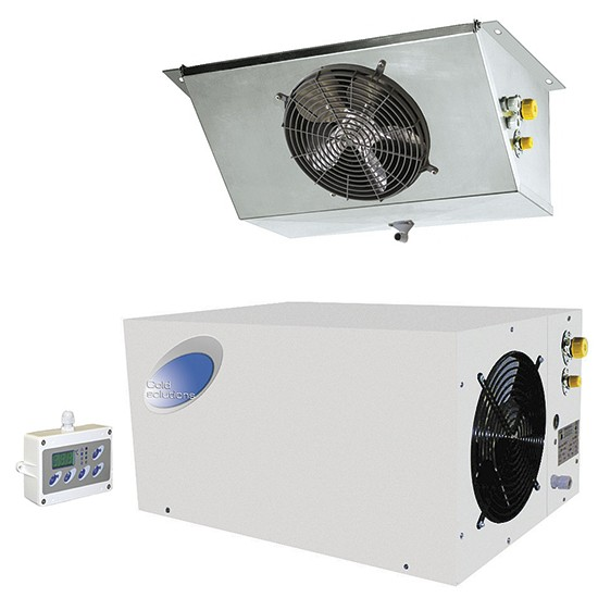 Horizontal split cooling unit, positive temperature