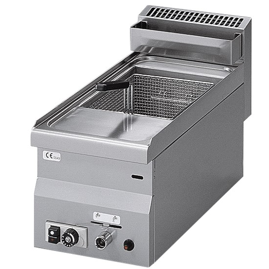 Single pan gas fryer, table top