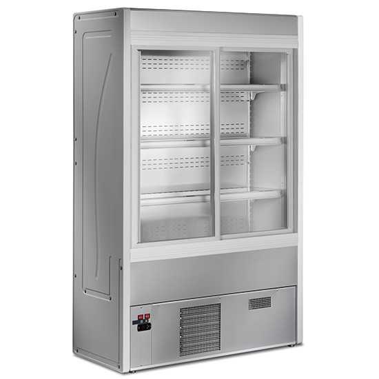 Refrigerated wall cabinet Light with sliding doors