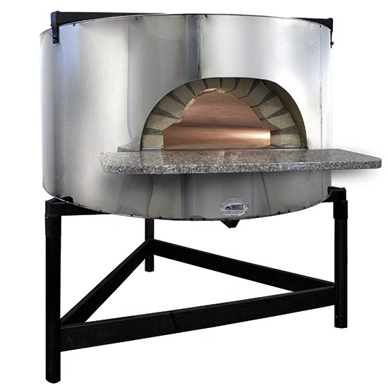 Wood oven for pizza, built-in type, wall structure to customize