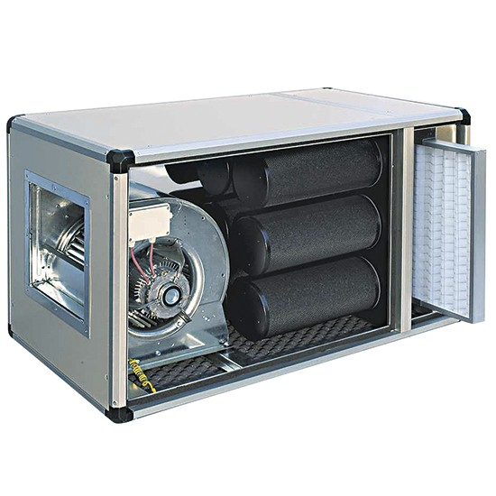 Charcoal filtration and deodorization unit
