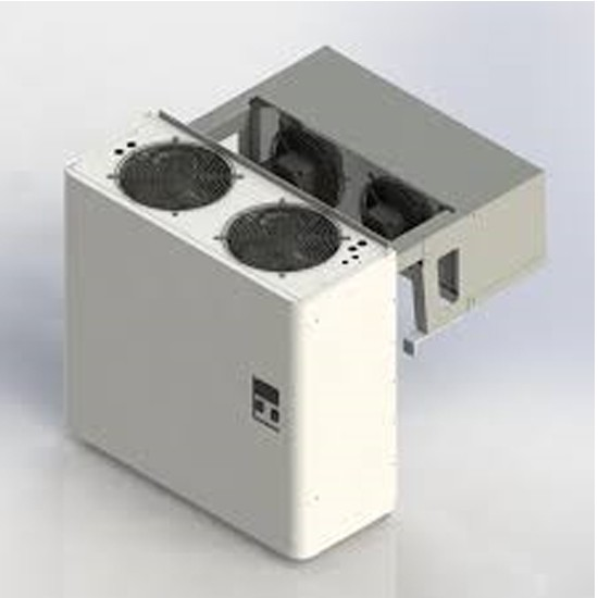 Straddle monoblock cooling unit for freezing rooms 80mm panel thickness